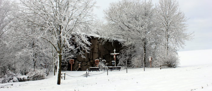 Bild: Der Bunkerkreuzweg im Winter